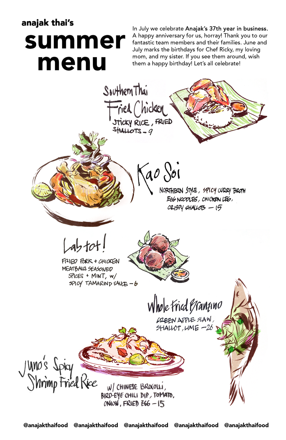 Anajak Thai Restaurant Fine Thai Cuisine In Sherman Oaks